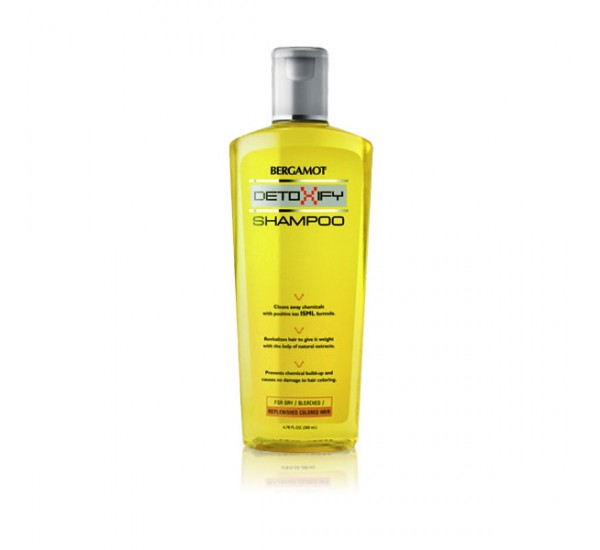 BERGAMOT Detoxify Shampoo for Dry / Bleached / Replenished Colored Hair