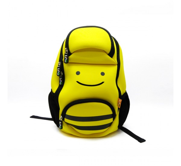Tas Lino Kids Backpack-Bee Style Yellow - Tas Anak