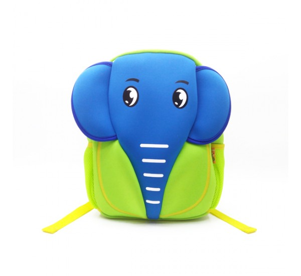 Tas Lino Kids Backpack-Elephant Style Green - Tas Anak