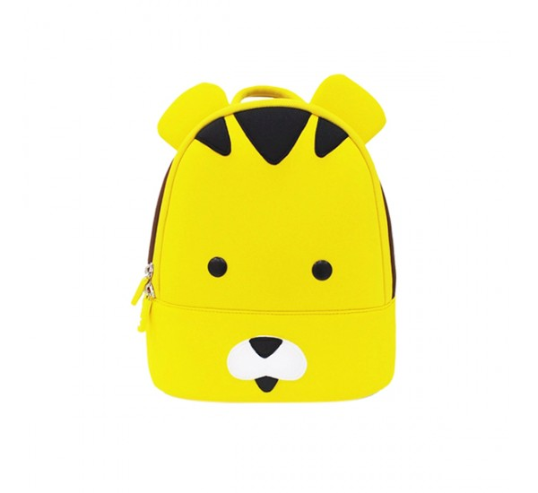 Tas Lino Kids Backpack-Tiger tyle blue - Tas Anak